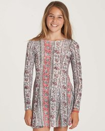 0 Girls' Stand Out Dress Beige GD04NBST Billabong