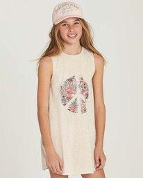 0 Girls' Peace Out Dress Beige GD06MPEA Billabong