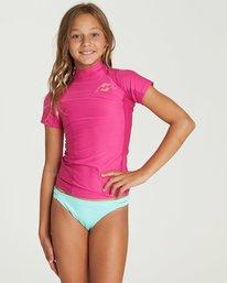 0 Girls' Surf Dayz Performance Short Sleeve Rashguard Pink GR01NBSD Billabong