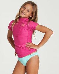 1 Girls' Surf Dayz Performance Short Sleeve Rashguard Pink GR01NBSD Billabong