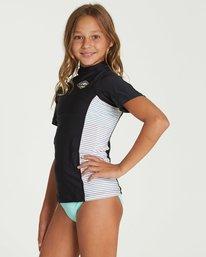 1 Girls' Surf Dayz Performance Fit Short Sleeve Rashguard Black GWLYJSCS Billabong