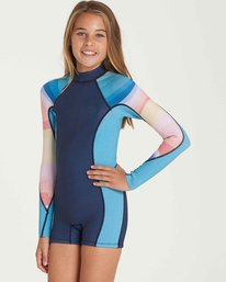 1 Girls' Spring Fever Long Sleeve Back Zip Springsuit  GWSPQBSF Billabong