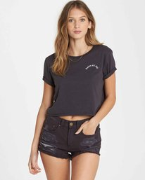 0 Dream All Day Crop Tee Black J436QBDR Billabong