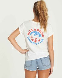 2 Billabong Flag Tee Beige J437PBBI Billabong