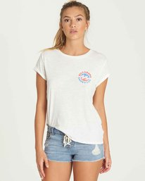 0 Billabong Flag Tee Beige J437PBBI Billabong
