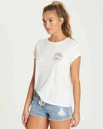 1 Billabong Flag Tee Beige J437PBBI Billabong
