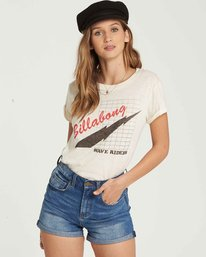 0 Ride The Wave Tee White J437QBRI Billabong
