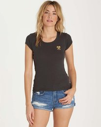 0 Baby Love Tee Black J439MBAB Billabong