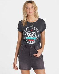 4 Cali Bear Love Tee Black J467NBCA Billabong