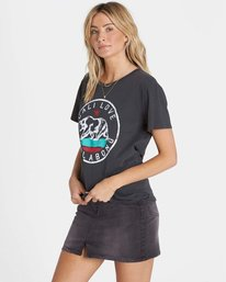 1 Cali Bear Love Tee Black J467NBCA Billabong