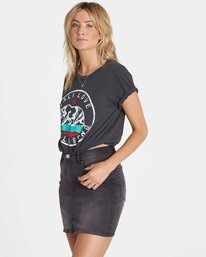 2 Cali Bear Love Tee Black J467NBCA Billabong