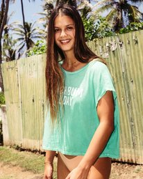 0 Beach Bum Crop Tee Green J495PBBE Billabong