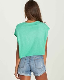 3 Beach Bum Crop Tee Green J495PBBE Billabong