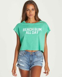 1 Beach Bum Crop Tee Green J495PBBE Billabong