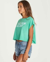 2 Beach Bum Crop Tee Green J495PBBE Billabong