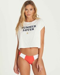 1 Summer Lover Crop Tee Beige J495PBSU Billabong