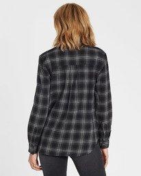 2 Venture Out Long Sleeve Flannel Shirt Black J507MVEN Billabong