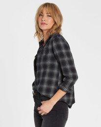 1 Venture Out Long Sleeve Flannel Shirt Black J507MVEN Billabong