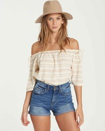 3 Match Up Off-The-Shoulder Top Beige J512QBMA Billabong