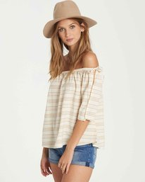 1 Match Up Off-The-Shoulder Top Beige J512QBMA Billabong