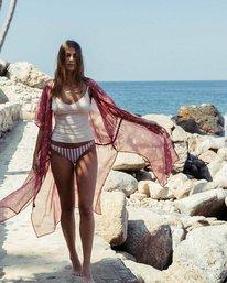 1 Calleys Sea Kimono Wrap Brown J516MCAL Billabong