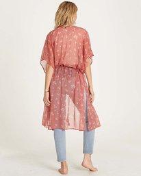 4 Calleys Sea Kimono Wrap Brown J516MCAL Billabong