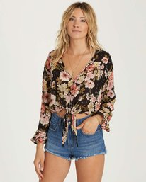 1 Girl Crush Top Black J516NBGI Billabong