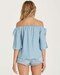 3 Blues Baby Chambray Top Blue J518NBBL Billabong