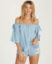 1 Blues Baby Chambray Top Blue J518NBBL Billabong