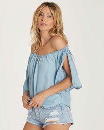 2 Blues Baby Chambray Top Blue J518NBBL Billabong