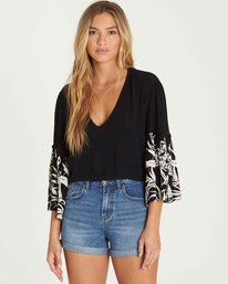 0 Island Folk Ruffle Sleeve Top  J519PBIS Billabong