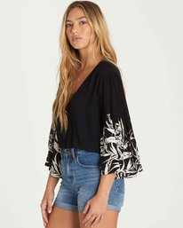 1 Island Folk Ruffle Sleeve Top  J519PBIS Billabong