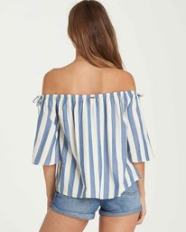 2 Match Up Off-The-Shoulder Top Blue J528QBMA Billabong