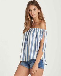 1 Match Up Off-The-Shoulder Top Blue J528QBMA Billabong