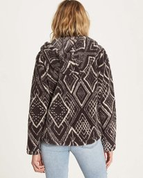 3 Over Head Fleece Jacket Black J616LOVE Billabong