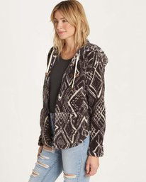 1 Over Head Fleece Jacket Black J616LOVE Billabong