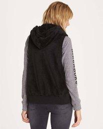 2 Side By Side Polar Fleece Vest Black J620MSID Billabong