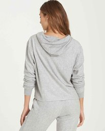 2 Short Story Fleece Hoodie Grey J620QBSH Billabong