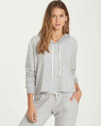 0 Short Story Fleece Hoodie Grey J620QBSH Billabong