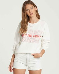 0 Take Me Away Crew Sweatshirt Beige J650QBTA Billabong