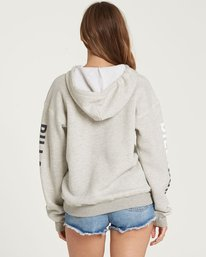 2 Retro Logo Fleece Hoodie Grey J651QBRE Billabong