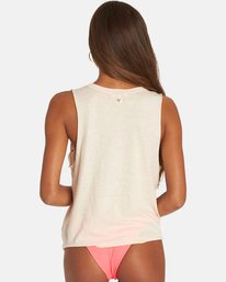 2 Hello Jodi Cut-Out Muscle Tank Beige J907PBHE Billabong