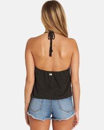 2 Ray Me Knit Halter Crop Top Black J908PBRA Billabong