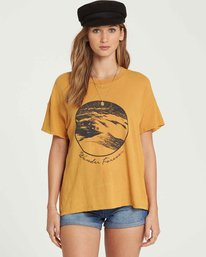 1 It Matters Boyfriend Tee Yellow J925QBIT Billabong