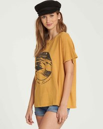 2 It Matters Boyfriend Tee Yellow J925QBIT Billabong