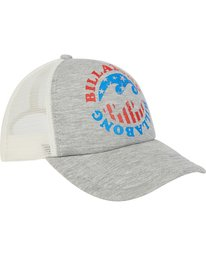 2 Across Waves Trucker Hat Grey JAHWPBAC Billabong