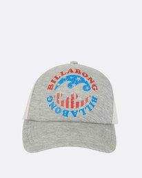 4 Across Waves Trucker Hat Grey JAHWPBAC Billabong
