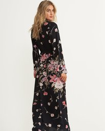 2 Desi Kimono Maxi Dress Black JD06QBDE Billabong