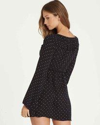 2 Take Away Long Sleeve Mini Dress Black JD18QBTA Billabong