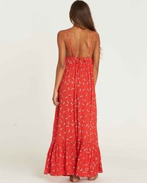 2 Flamed Out Maxi Dress Red JD22PBFL Billabong